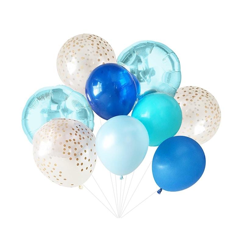 Blue Balloons Boy Balloon Bouquet Bundle Birthday
