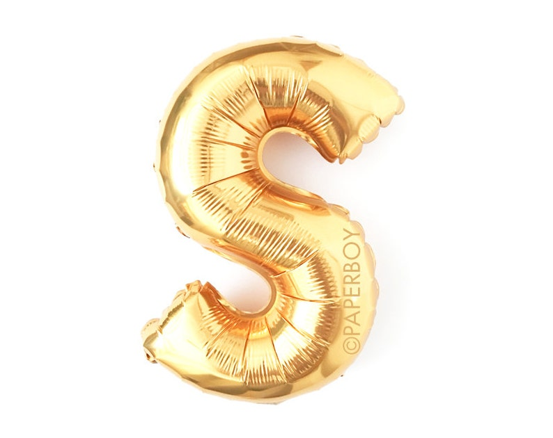 Mylar Foil Small  Medium 12 inch Airfill Globo Ballon Custom Banner Garland Alphabet Letter Number Gold Letter X Balloon 14