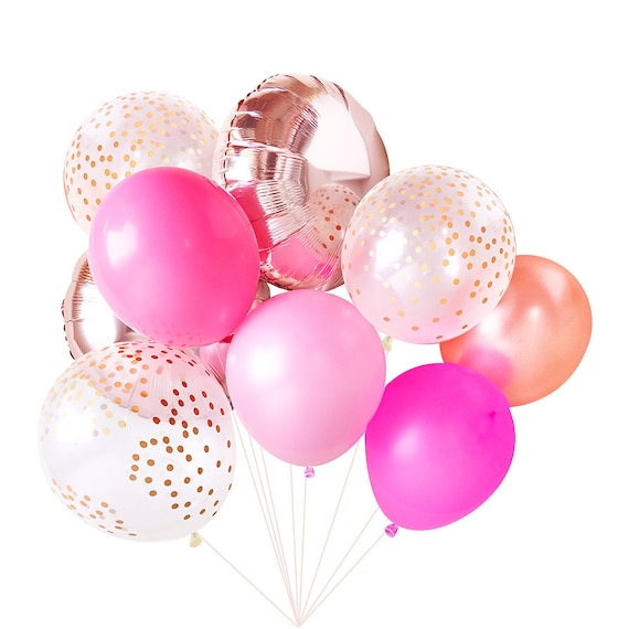Pink Balloons Balloon Bouquet Bundle Birthday