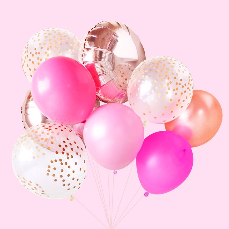 Pink Balloons Unicorn Party Ideas  Mermaid Party Ideas  Girl/'s Birthday Ideas Balloon Bouquet Bundle  Birthday Balloons