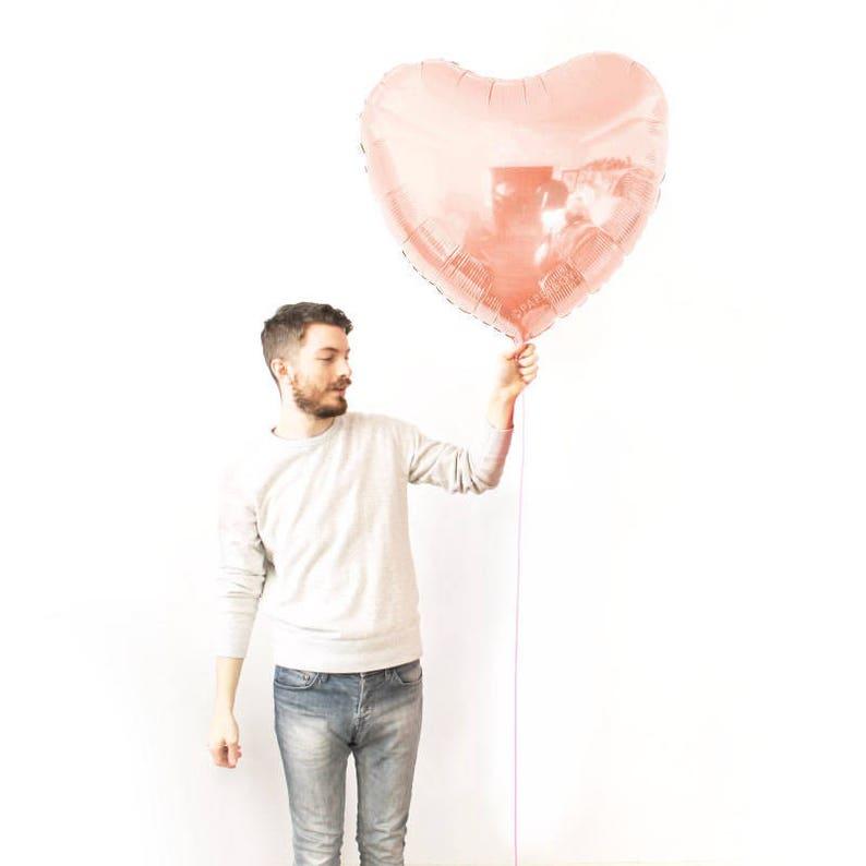 Blush Pink Valentine/'s Day Blank 36 inch Ballon Globo Shape  Huge Giant Jumbo Foil Mylar Large Rose Gold Heart Balloon