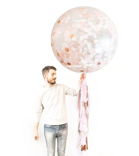 Giant Balloons Peachy confetti