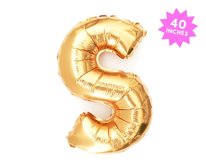 S - Copper Rose Gold Number Balloon - 40