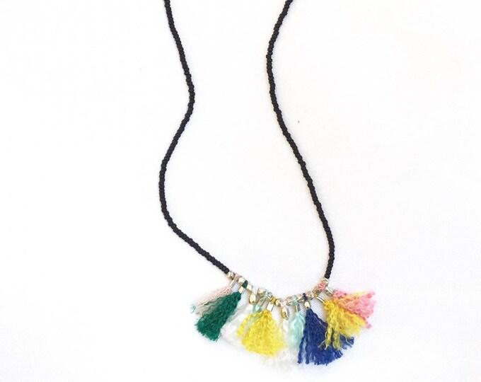 Marble Mini Tassel Necklace