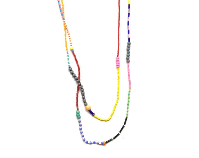 Eleanor Double Strand Seed Bead Necklace