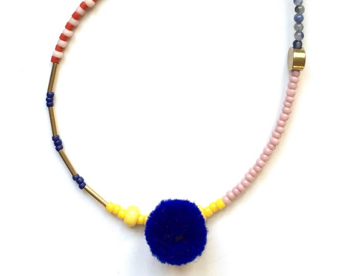 Pipsan Bracelet with Blue Pom Pom