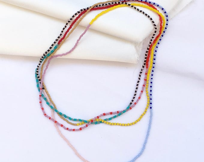 Tropical Double Strand Necklace