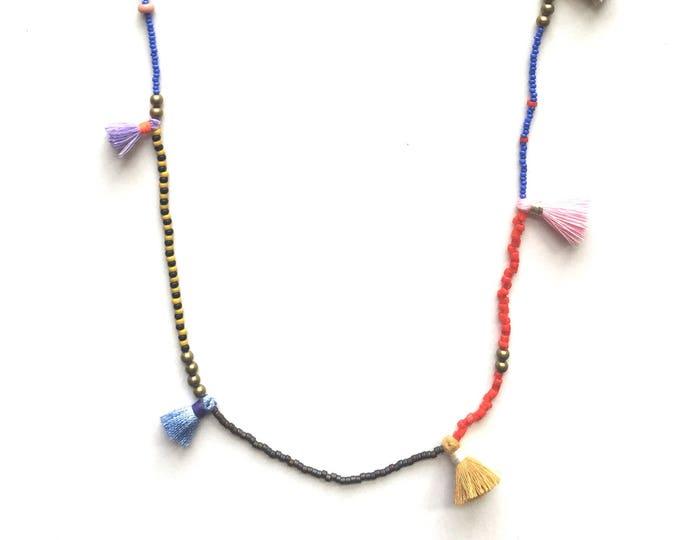 Isaac Mini Tassel Necklace