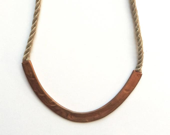 Sandy Copper Rope Necklace