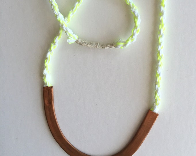 Lightning Copper Rope Necklace