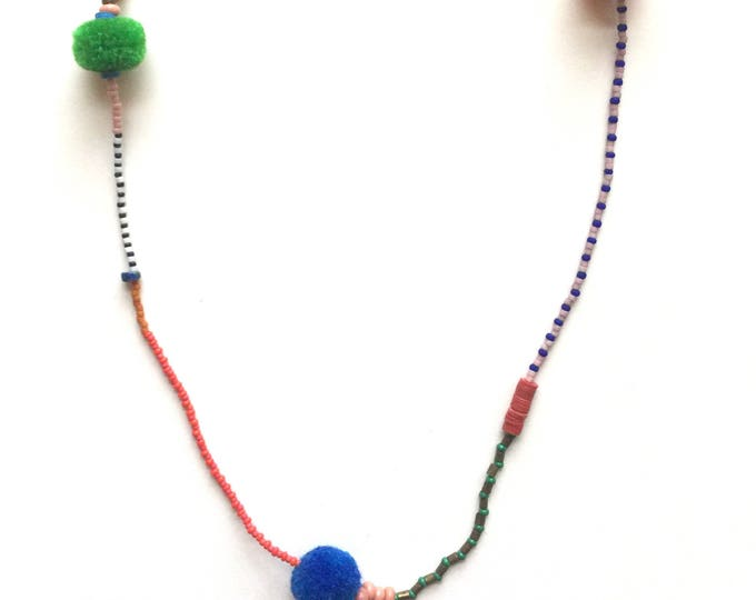 December Pom Pom Necklace