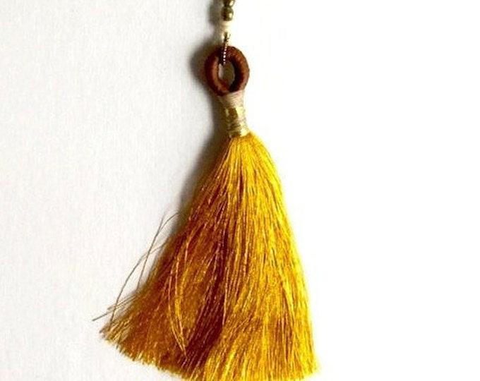 Marigold Tassel Necklace
