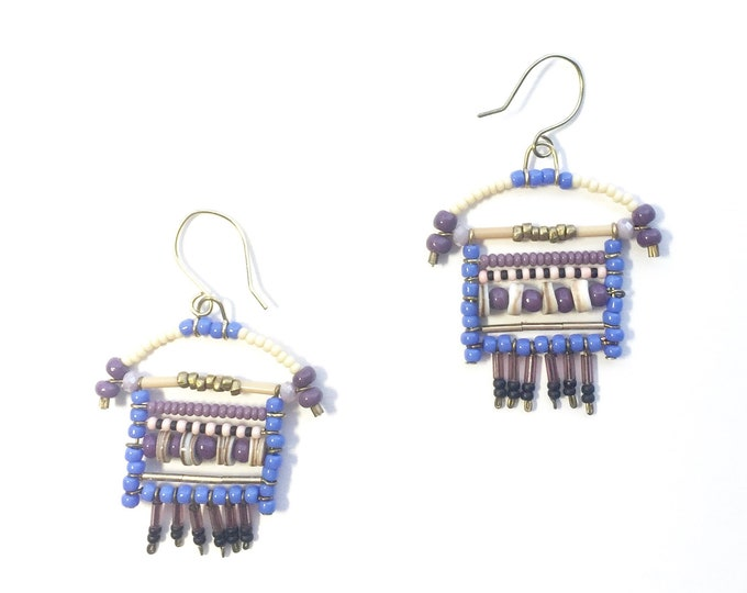 Lavender Beaded Earrings