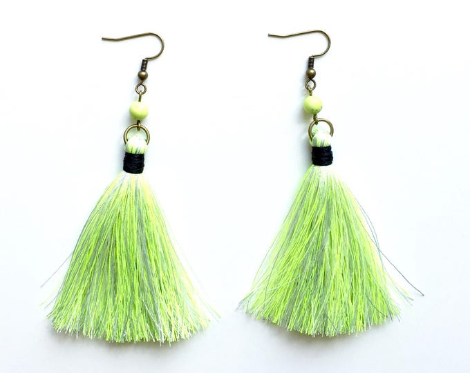 Atlanta Neon Tassel Earrings