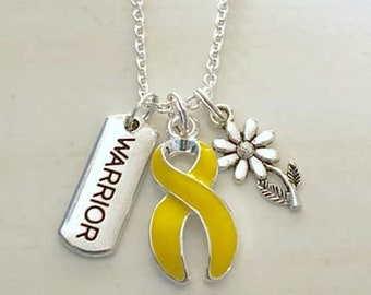 Holly Road Bladder Cancer Awareness Silver Chain Necklace Choose Your Text