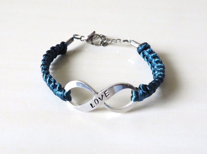 Teal Ribbon Ribbon Jewelry Teal Ribbon Awareness Bracelet Awareness Jewelry Awareness Bracelet Cancer Survivor Anxiety Awareness