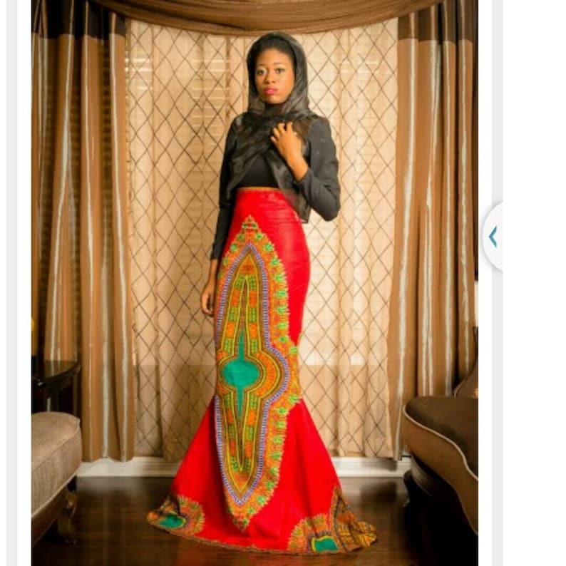 4267330f2377 Dashiki Mermaid Skirt   Etsy