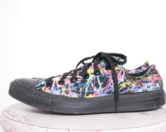 9ae7e14430ed Adult LowTop or HighTop Splatter Painted Converse or Vans Sneakers Adult  Size 3.5 - 12