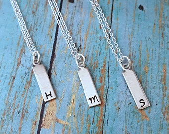 SALE!! Initial Necklace - Personalized Necklace - Women's Jewelry - Gift for Girls - Gift for Teens - Gift for Women - Hand Stamped Necklace
