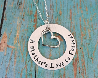 Mother's Necklace - A Mother's Love is Forever - Mother - New Mom - Mother's Day - Gift for Mom - Gift for Her - Mom - Love -Jewelry for Mom