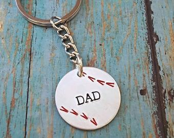 Baseball Dad Keychain - Baseball - Baseball Daddy - Baseball Lover - Gift for Him - Baseball Life - Baseball Mom - Baseball Fan
