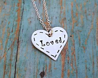 Loved Necklace - Love - Loved - Necklace - I Am Loved - You Are Loved - Gift for Her - Gift for Women - Gift for Girls - Daughter