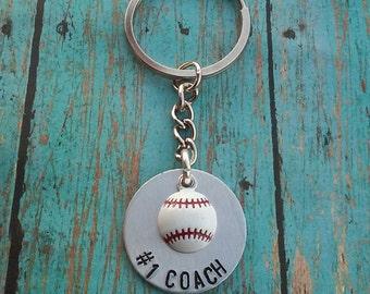 Baseball Coach Keychain - Baseball - Coach's Gift - Gift for Coach - Thank You Gift for Coach - Team Party Gift - Sports Keychain - Baseball