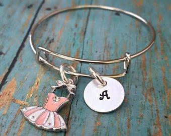 Tutu Charm Bangle Bracelet - Tutu - Ballet - Dancer - Children's Jewelry - Gift for Girls - Birthday Gift for Girl - Expandable Bracelet