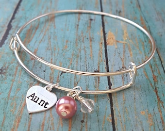 Aunt Bracelet- Aunt -Gift for Aunt - Favorite Aunt - Auntie - Tia - Gift for Her - Cool Aunt -Aunty -Aunt Gift - Aunt Jewelry - Special Aunt