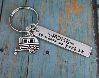 Camper Keys - Camper Keychain - Camp - Camper - Camping - Trailer - Trailer Keys - Trailer Keychain - Camper Gift - Gift for a Camper -
