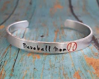 Baseball Mom Bracelet - Cuff Bracelet - Baseball - Ball Mom - Sports Mom - Baseball Fan - Team Sports - Mom - Sports Jewelry - Sports