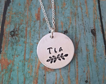 Tia Necklace - Tia - Gift for Tia - Favorite Tia - Gift for Aunty - Aunt -Aunty - Aunt Gift - Aunt Jewelry - Special Aunt - Spanish Jewelry