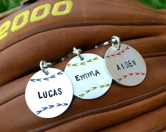 Personalized Baseball Bag Tag - Softball Bag Tag - ID Tag - Softball - Personalized ID Tag -Team Sports - Baseball Player Gift -Zipper Pull