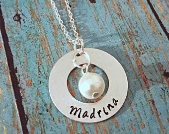 Madrina Necklace - Madrina - Gift for a Madrina - Madrina Gift - Godmother - Godmother Necklace - Religious - Baptism - Christening -Nina -