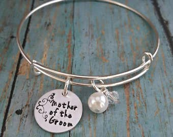 Mother of the Groom - Mother of the Groom Bracelet - Wedding Jewelry - Mother of the Groom Gift - Wedding Party - Gift for Mother - Wedding