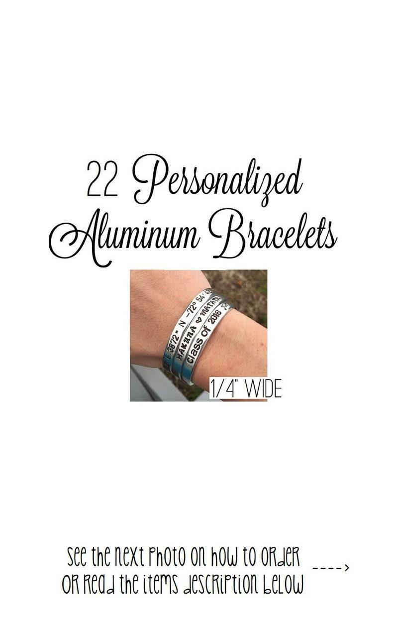 40 years old Special Order Handstamped Bangle Bracelet Aluminum Disc Birthday Bracelet