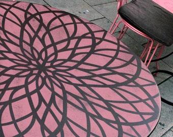 Mandala Furniture Stencil - Medallion Stencil - Furniture Renewal Stencil - Wall Painting Stencils
