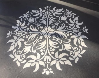 Mandala Stencil - Floor Decor Stencil - Wall Painting Stencils - Decorative Medallion Stencil
