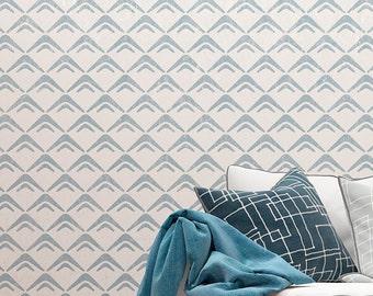 avenue wand schablone gro e geometrische wand schablonen etsy. Black Bedroom Furniture Sets. Home Design Ideas
