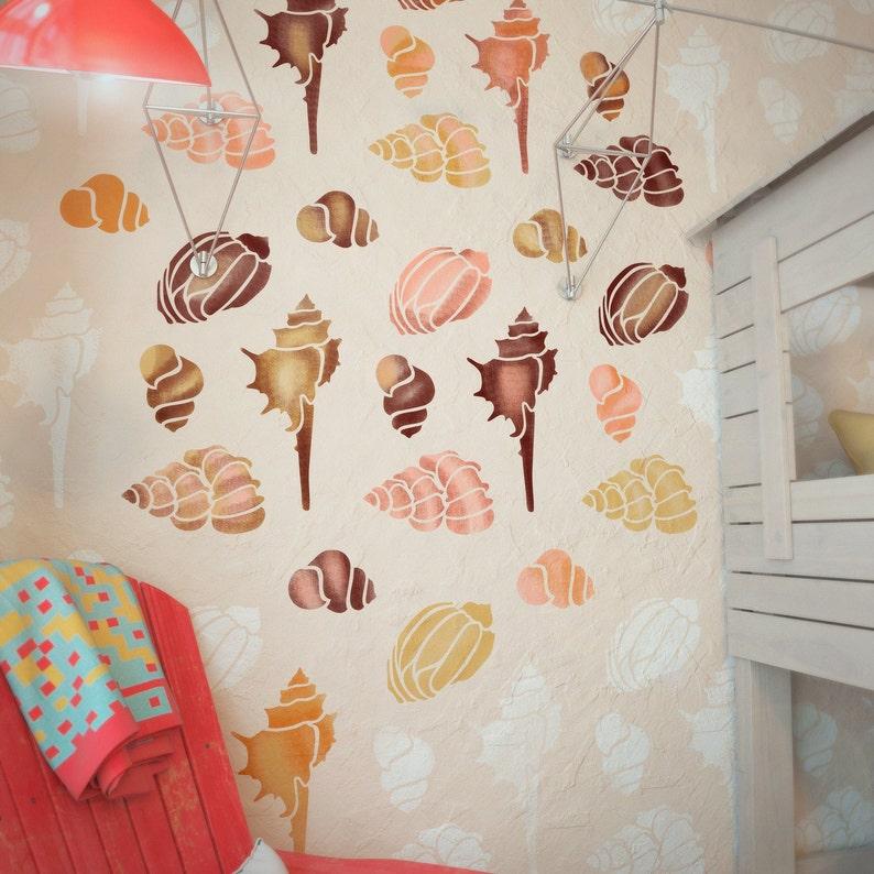Muscheln Schablonen Kinderzimmer Wand Schablone große | Etsy