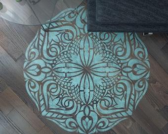 Mandala Stencil - Floor Stencil - Mandala Floor Stencil - Wall Painting Stencils - Mandala Wall Stencil