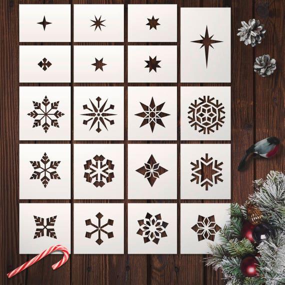 schablonen window color vorlagen schneeflocke  malvorlagen