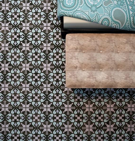 fliesen kacheln handgefertigt belgien, bodenfliesen schablone fliesen-schablone für boden möbel | etsy, Design ideen