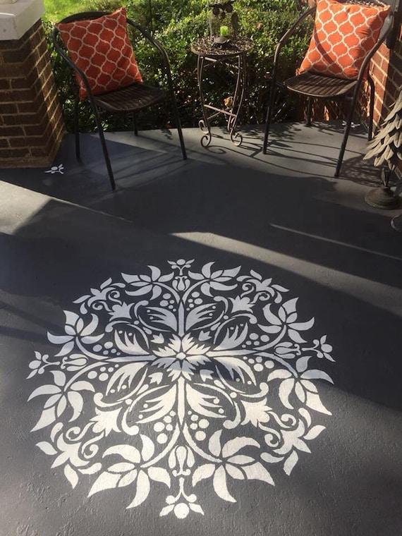 Mandala schablone boden dekor schablone wandmalerei etsy - Schablone wandmalerei ...