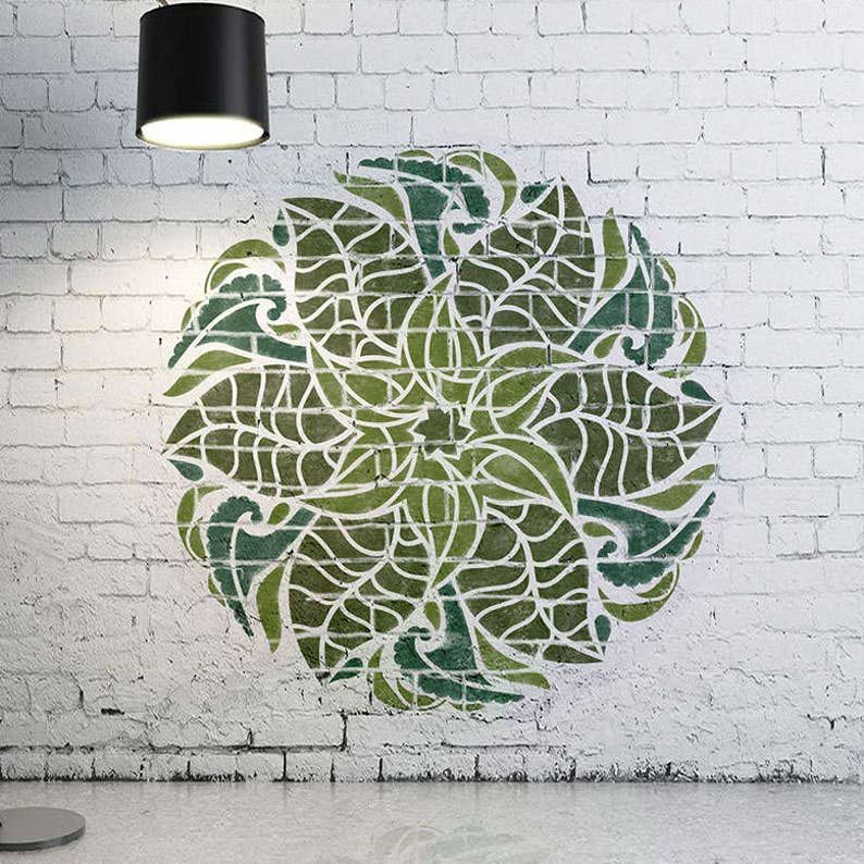 Large Floral Mandala Wall Stencils Wall Paint Stencils Modern Stencils For Painting