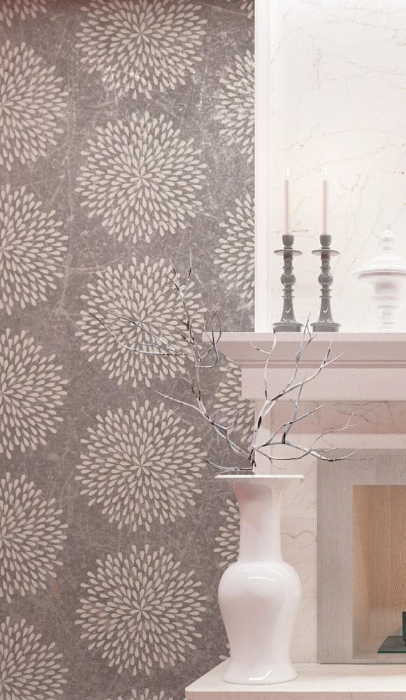 Flower Wall Stencil Diy Wall Decor Stencil Reusable Wall Etsy