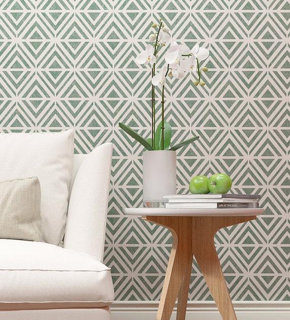 MYRTE Wand Schablone moderne geometrische Muster | Etsy