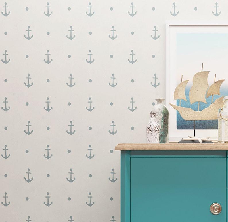Anker Muster Schablone Wand Schablone Kinderzimmer Allover | Etsy