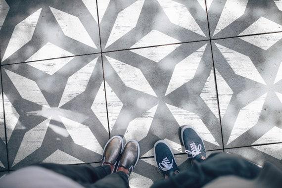 Athena Kachel Schablone moderne geometrische Fliesen | Etsy