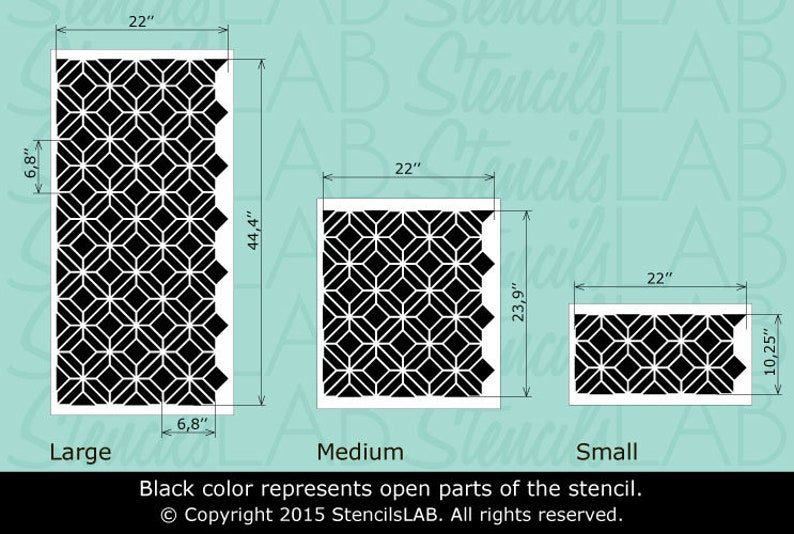 Modern Wall Painting Stencil Reusable Large Stencils For DIY Decor Moroccan Pattern Allover Wall Stencils